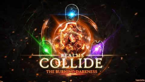 Realms Collide: The Burning Darkness logo